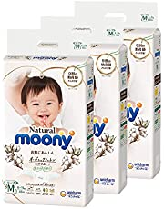 Moony Natural Pants, M, 46 Count, (Pack of 3)