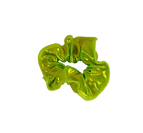 obersee-kids-hair-tie-scrunchie-lime-one-size