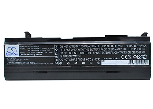 Replacement Battery Part No.PA3451U-1BRS,PA3457U-1BRS,PA3465U-1BRS for Toshiba Dynabook AX/ 55A,dynabook TW/ 750LS,Equium A110-233,Notebook,Laptop Battery