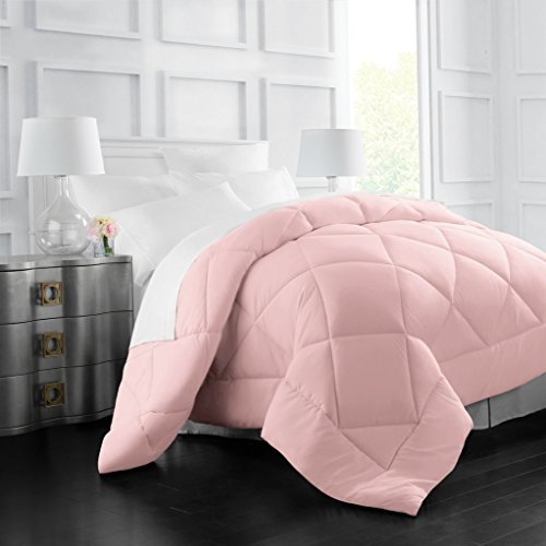 Egyptian Luxury Goose Down Alternative Comforter - All Season - 2100 Series Hotel Collection - Luxury Hypoallergenic Comforter - Twin/TwinXL - Pink (Comforter Down Pink Twin)