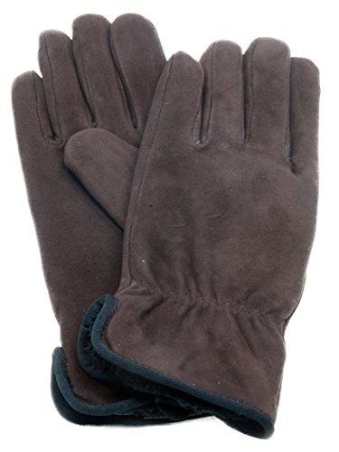 Grandoe Waterblock Metisse Suede Glove for Women, Warm Chic Winter Wear, Weekender (Brown, Large)