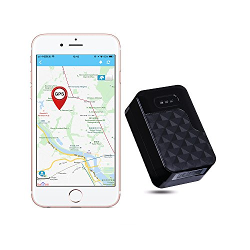 AUENLIPHTO GT200S Real-time Portable Magnetic Personal Vehicle GPS Tracker No Monthly Fee 2G tracking (Black)