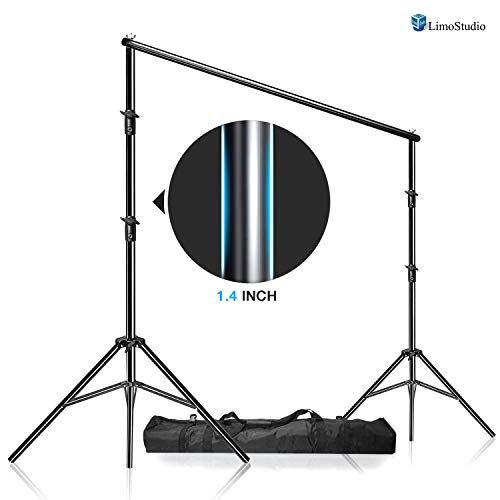 LimoStudio Photo Video Studio Adjustable Muslin Background Backdrop Support System Stand & Cross Bar, AGG1111