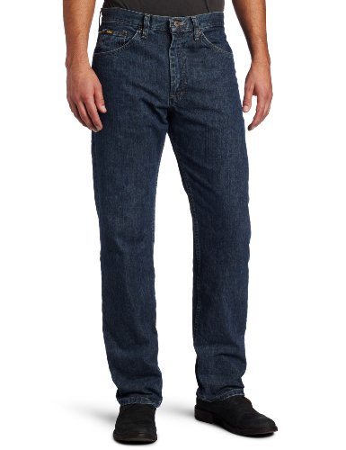 Lee Men's Regular Fit Straight Leg Jean, Steel, 38W x 34L