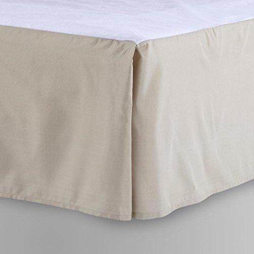 LaxLinens 350 fils cm², 100%  coton, finition élégante 1 jupe plissée de chute Longueur    21 Lit simple Beige uni  Euro