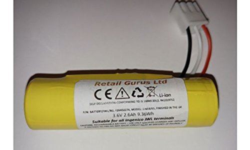 Retail Gurus Ingenico IWL220, IWL221, IWL222, IWL250, IWL251, IWL252 Li-ion Battery 3.6v 2.05Ah 7.4Wh F26401964