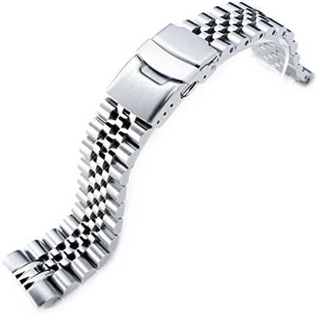 22mm Super Jubilee 316L SS Watch Band for Seiko New Turtles SRP777 SRPA21 Brushed