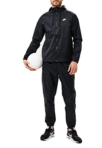 NIKE Men's Sportswear Woven Tracksuit (Black, L) by NIKE
