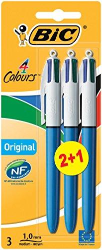 BiC Kugelschreiber, vierfarbig, 2+1 gratis
