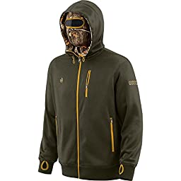 Legendary Whitetails Men\'s Double Time Hoodie w/Built In Balaclava Olive Small