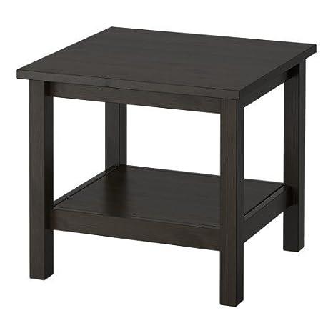 Ikea HEMNES - Mesa Auxiliar, Negro-marrón - 55x55 cm: Amazon.es: Hogar