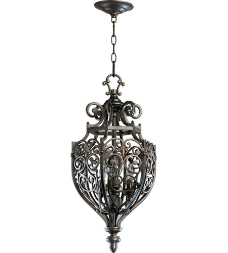 Quorum International 6831-3 3 Light Entry Fixture from the Marcela Collection, Oiled Bronze With Antique ()