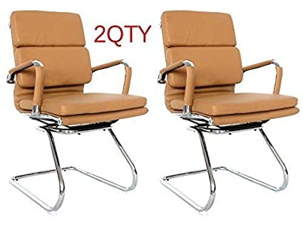 Fine Classic Replica Visitors Chair Vegan Leather Thick High Density Foam Chrome Arms With Protective Arm Sleeves With Zip Available White Spiritservingveterans Wood Chair Design Ideas Spiritservingveteransorg
