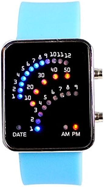 HKB®Reloj Luces Ventilador Sabiduría LED Relojes Ventilador ...