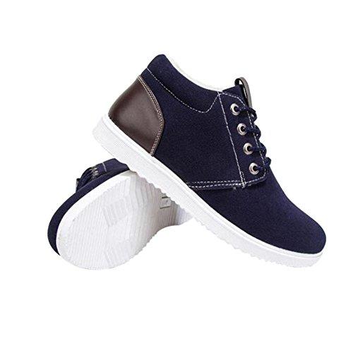 Traspiranti Sneaker Fuyingda Casual Uomo in blu Inverno Lace Pelliccia Caldo Piatti Sportive Stivali Up Fodera Moda Outdoor Scarpe fwavCRqUf