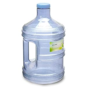 "For Your Water 1 Gallon 3.7 Liter BPA Free FDA Approved Plastic Reusable Sport Water Bottle Container Jug with Handle and with 48MM Screw Cap 6.5"" x 11. 5"" - Blue - Made in the USA"