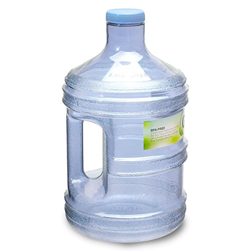 1 gallon bpa free reusable plastic drinking water big for Plastic bottle storage