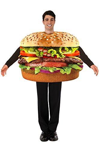 Forum Men's Hamburger Costume, Multi, One (The Onion Halloween Costumes)