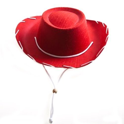 Century Novelty Children's Red Felt Cowboy Hat]()
