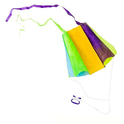 Pocket Parafoil Kite - Flying Colorful Sky Dancer with Spool - Perfect for Outdoor and Open-Air Activities, Game on Summer Vacation, Field Trip, Play Parks, Gifts, Stocking Stuffers and Fillers ()