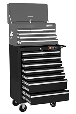 Excel 26 in. 7 Drawer Roller Tool Cabinet with Raised Handle