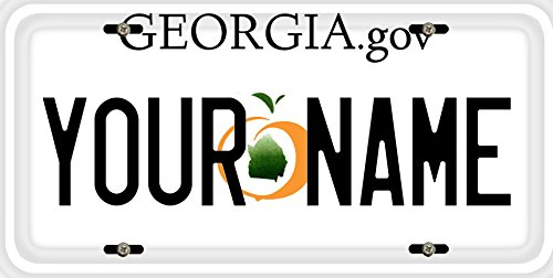 alized Custom Name Georgia State Car Vehicle License Plate Auto Tag (ALL STATES AVAILABLE) (Georgia Custom License Plate)