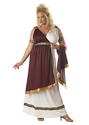 [Mememall Fashion Roman Empress Toga Plus Size Adult Halloween Costume] (Madonna Costume Plus Size)