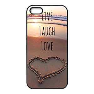 Cool Painting Live Laugh Love Brand New Cover Case for Iphone 5,5S,diy case cover case576731