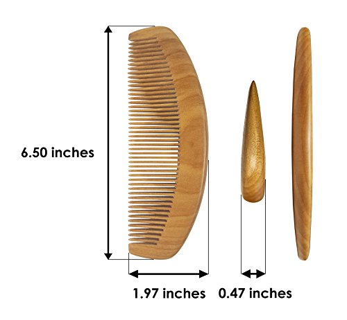 eSay Hair Comb And Brush Set For Women, Men - Hairbrush For Fine Hair And thick hair - Comb Massager Hair Growth, Wooden by eSay (Image #5)