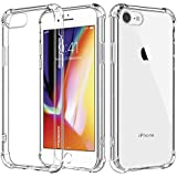 For iPhone 8 Case / iPhone 7 Case - MoKo Flexible TPU Bumper Gel Case Crystal Clear Ultra Slim Shell Protective Anti-Scratch Rigid Back Cover for Apple iPhone 8 / 7, Crystal Clear