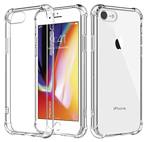 - MoKo Cover Compatible for iPhone 8 Case / iPhone 7 Case, Flexible TPU Bumper Gel Case Crystal Clear Ultra Slim Shell Protective Anti-Scratch Rigid Back Cover for Apple iPhone 8 / 7, Crystal Clear