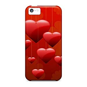 Awesome Hearts Flip Case With Fashion Design For Iphone 5c