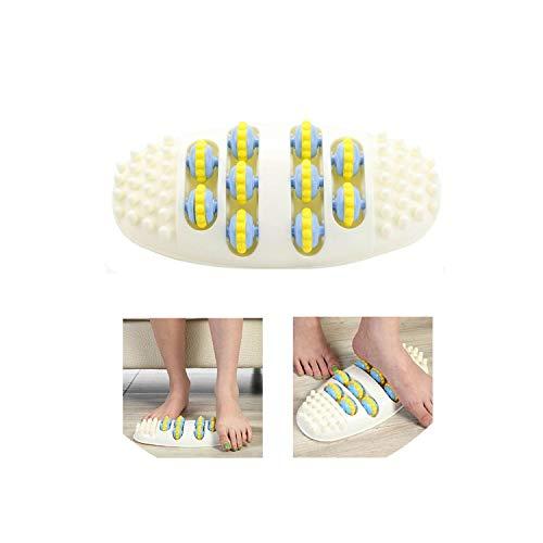 Roller Wheel Feet Massager Foot Acupuncture Point Massage Roller Health Massage mat Relax Superhard Foot Massager Relieve,as pic ()