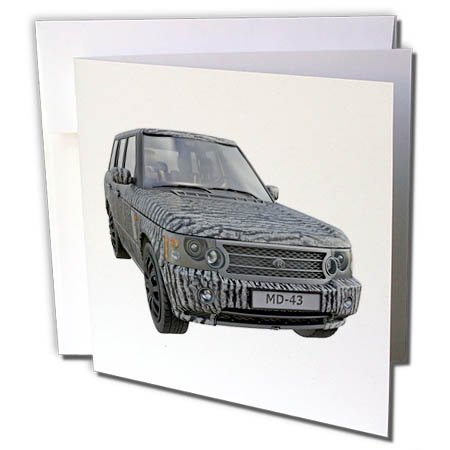 s Car - A Zebra Pattern European Ranger Car - 12 Greeting Cards with Envelopes (gc_282288_2) ()
