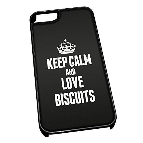 Nero cover per iPhone 5/5S 0827nero Keep Calm and Love biscotti