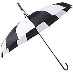 NHsunray Pagoda Umbrella Lightweight Waterproof Windproof UV Pretection Retro Parasol for Wedding Birthday Bridal Shower (striped)
