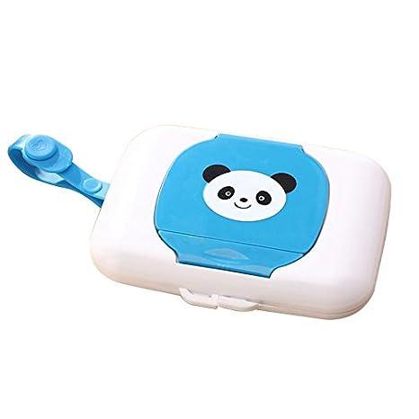 SODIAL Soporte de almacenamiento Caja de toallitas humedas para ninos Estuche de limpieza de viaje Dispensador de cambio bebe: Amazon.es: Hogar