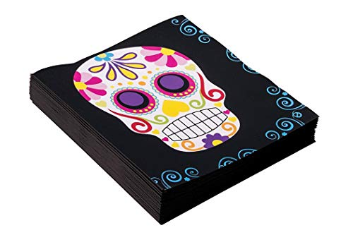 Forum Novelties Day of The Dead Napkins 16 Pack, us:one Size, Multi-Colour -