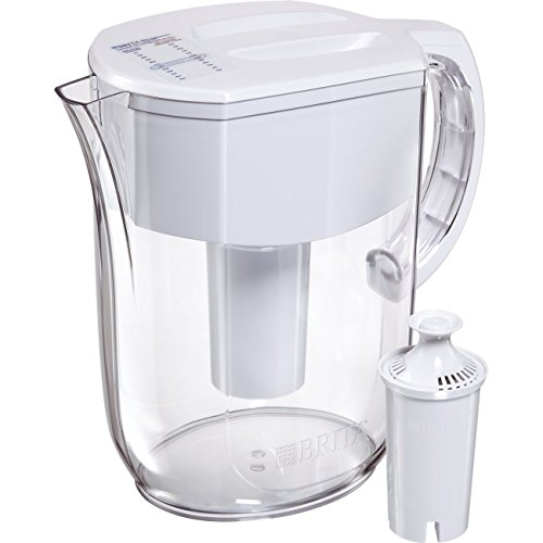 Brita Large 10 Cup Everyday Water Pitcher - BPA Free - White