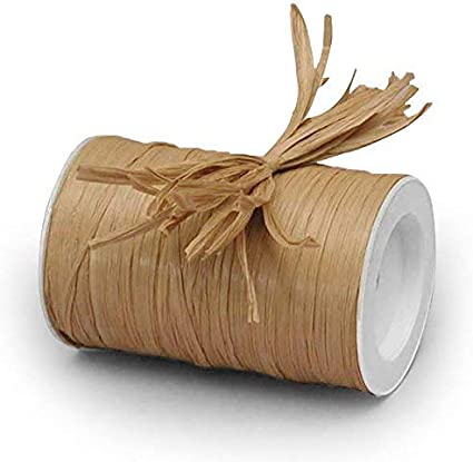 Party Decor Gift Packaging DIY Home projections 1//4 x 100 yd Natural Farms Terra Cotta Matte Raffia Ribbon