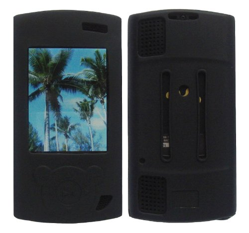 iShoppingdeals - Black Soft Silicone Skin Case Cover for Sony Walkman NWZ S544 S545 MP3 Player