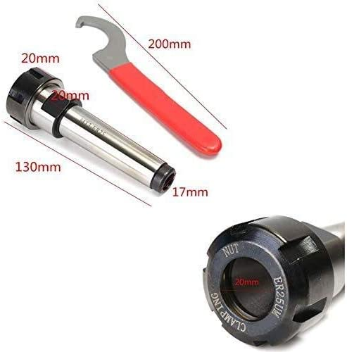 1Pc Spanner LKAIBIN Mt3 Er25 M12 Collet Chuck Holder Fixed CNC Milling Turning Tools