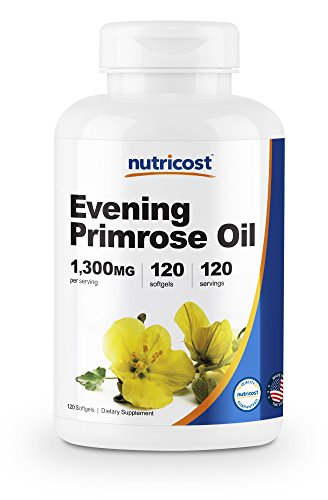 Nutricost Evening Primrose Oil 1,300mg, 120 Softgels - Cold Pressed, Non-GMO, Gluten Free, 120 Servings