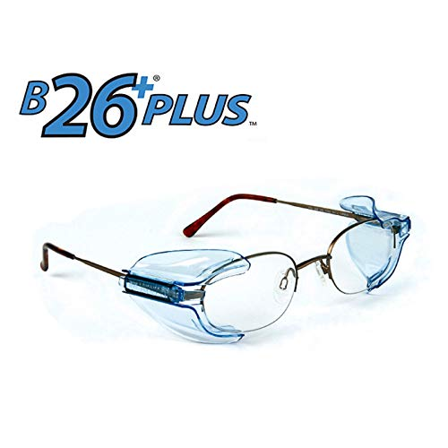 B26+ Wing Mate Safety Glasses Side Shields- Fits Small to Medium Eyeglasses (Pack of 20) ()