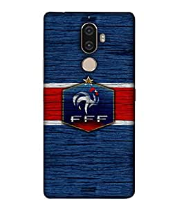ColorKing Football France 16 Blue shell case cover for Lenovo K8 Note