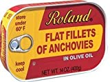 Roland Wild Caught Flat Fillets of Anchovies in Olive Oil 14 oz