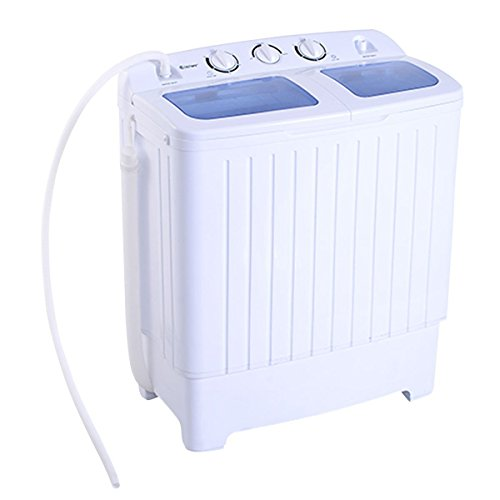 Giantex Portable Mini Compact Twin Tub 11lb Washing Machine Washer Spin Dryer