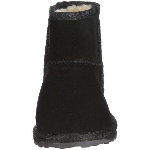 Emu Wallaby Mini Mädchen Kurzschaft Stiefel Schwarz (Black)