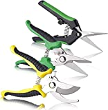 ZF TOYS 3 Pack Gardening Shears Bypass Pruning Shears Gardening Clippers Hand Pruners with Stainless Steel Blade