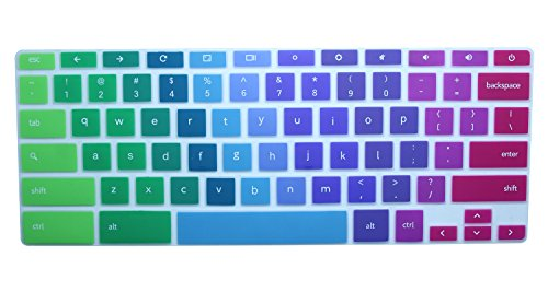 CaseBuy-Ultra-Thin-Colorful-Keyboard-Cover-Skin-for-Samsung-ARM-116-Chromebook-2-XE500C12-Chromebook-3-XE500C13-116-inch-Chromebook-Rainbow